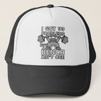 99 Problems But A Bench Ain't One - Kawaii Workout Trucker Hat