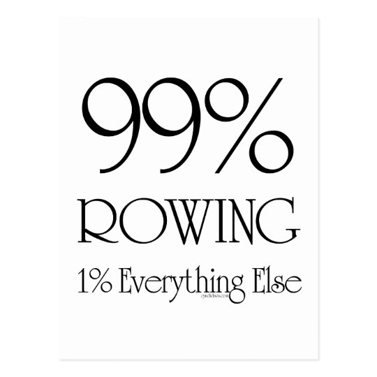 99% Rowing Postcard