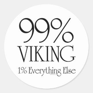 99% Viking Classic Round Sticker