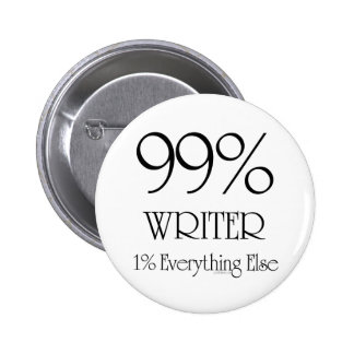 99% Writer 2 Inch Round Button