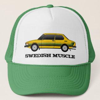99T_sedan with stripes, SWEDISH MUSCLE Trucker Hat