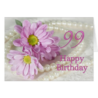 99th Birthday card with daisies
