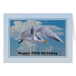 99th Birthday Card with Royal Tern Bird
