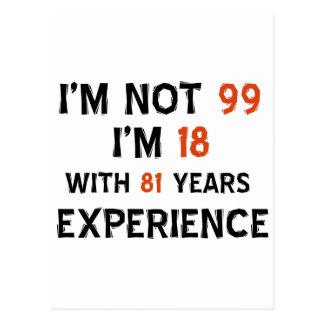 99th birthday designs postcard