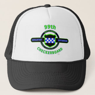 """99TH INFANTRY DIVISION """"CHECKERBOARD"""" DIVISION TRUCKER HAT"""