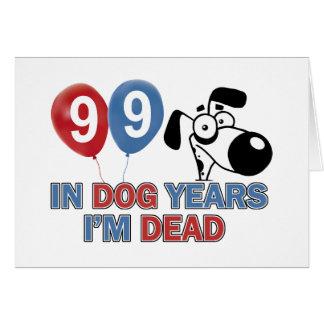99th year old birthday designs card