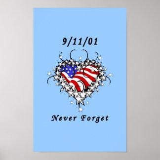 9 11 01 Patriotic Tattoo Posters