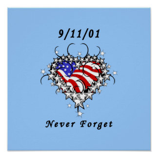 9/11/01 Patriotic Tattoo Poster
