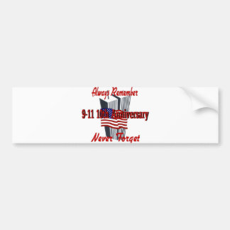 9-11 10 Anniversary Commemorative Bumper Sticker