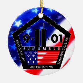 9-11 10th Anniversary Commemorative Ceramic Ornament
