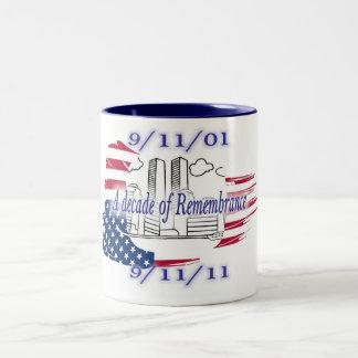 9-11 10th Anniversary Commemorative Two-Tone Coffee Mug