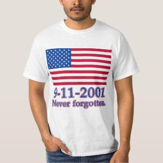 9-11-2001 Never Forgotten Tshirts, Buttons T-Shirt