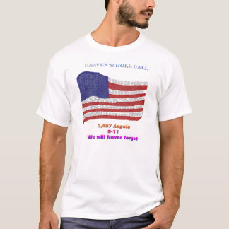 9-11 Anniversary Roll Call T-Shirt