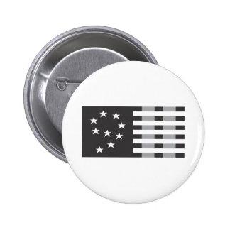 9-11 Commemorative Logo Black and White Pin