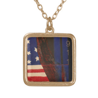 9-11 Commerative Gold Plated Necklace