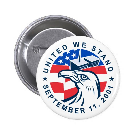 9-11 Eagle Head World Trade Center American Flag Pins