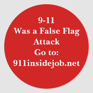 9-11 Inside Job Classic Round Sticker