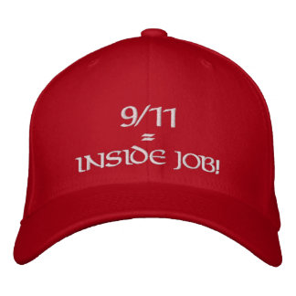 9/11 Inside Job Red Hat Embroidered Baseball Cap