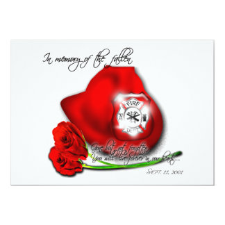 9/11 memorial Invitation