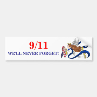 9/11 Memorial Ribbon Angel Bumper Sticker