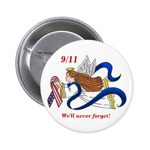 9/11 Memorial Ribbon Angel Pins