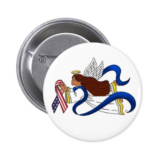 9/11 Memorial Ribbon, Angel of Color Buttons