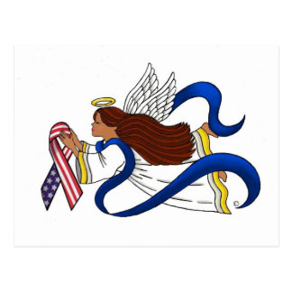 9/11 Memorial Ribbon, Ethnic Angel Post Card