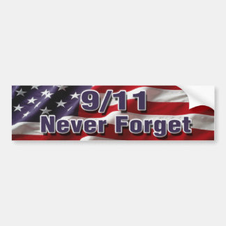 9/11 Never Forget Bumper Sticker