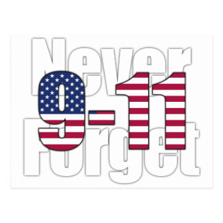 9-11 Never Forget Postcard