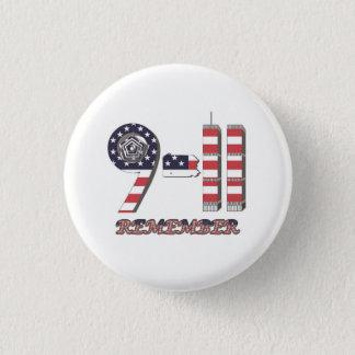 9-11 Original Flag Pattern Button