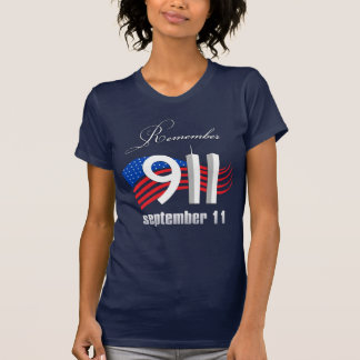 9/11 Remember September 11 - Navy Blue Tshirt