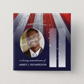 9/11 September 11 - Personalized Photo Pins
