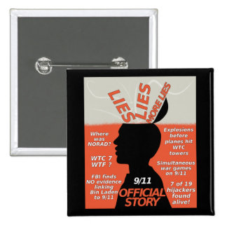 9-11 Truth Official Story Lies 2 Inch Square Button