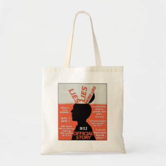 9-11 Truth Official Story Lies Budget Tote Bag