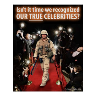 9/11 War - True Celebrities: Protest Poster