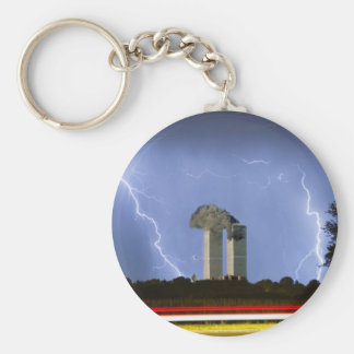 9-11 We Will Never Forget Basic Round Button Keychain