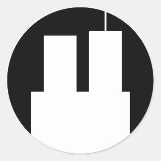 9/11 WTC CLASSIC ROUND STICKER