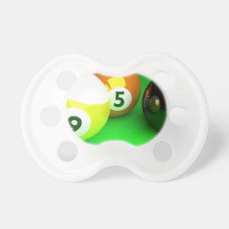 9 Ball 3D Pool Balls Green Pacifiers