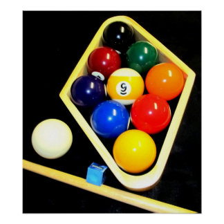 9 BALL BILLIARDS POOL ART POSTER