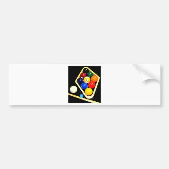 9 BALLS BILLIARDS POOL BUMPER STICKER