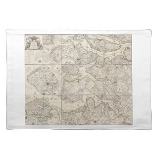 9 bladed map of the province of Zeeland Zealand Placemat