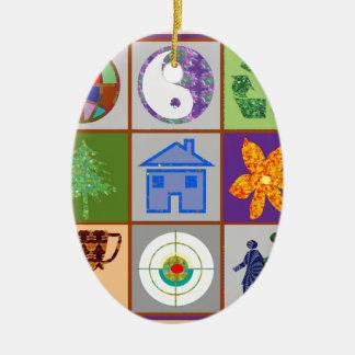 9 ENFANTS de symboles que l'histoire s'engagent Ornement De Noël