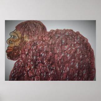 9 ft/274 cm tall Homo-erectus bf Poster