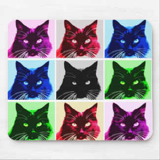 9 lives cat collage mouse pad
