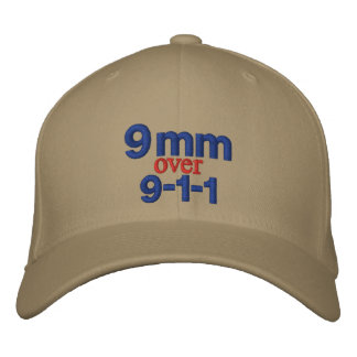 9 mm over 9-1-1 embroidered hat