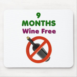 9 months wine free, pregnant mom, pregnancy gift mouse pad