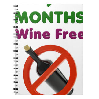 9 months wine free, pregnant mom, pregnancy gift spiral notebook
