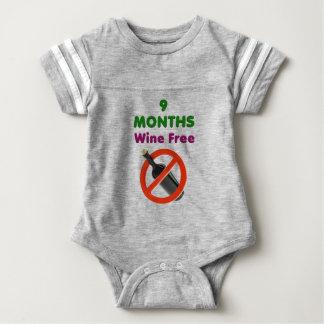 9 months wine free, pregnant woman, pregnancy baby baby bodysuit