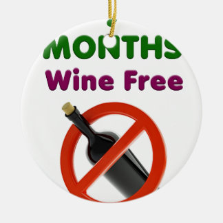 9 months wine free, pregnant woman, pregnancy baby ceramic ornament