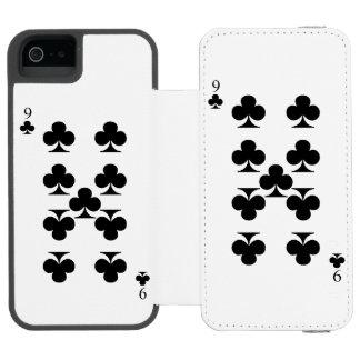 9 of Clubs Incipio Watson™ iPhone 5 Wallet Case